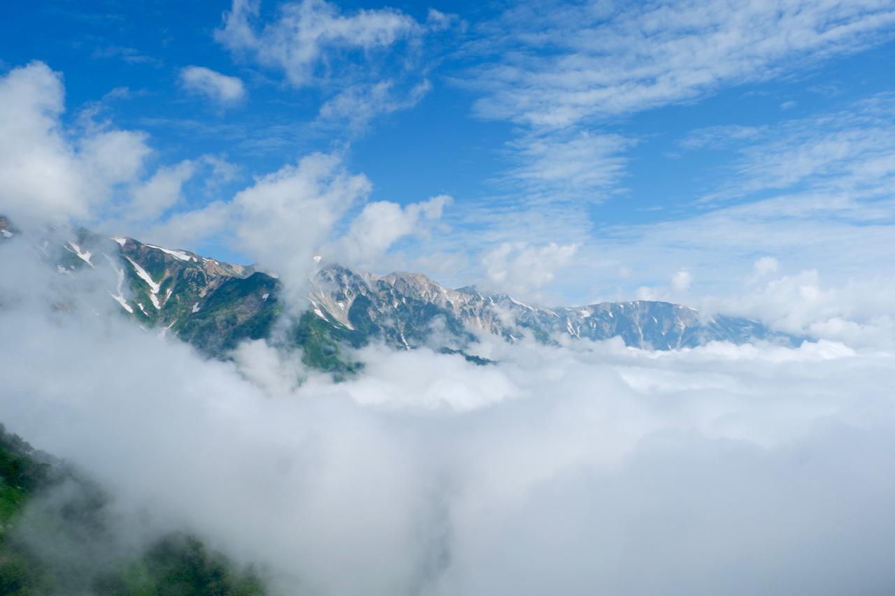 連峰 後ろ 立山